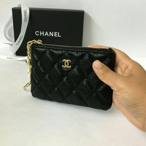 Vip Gift Caviar Leather wallet